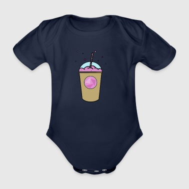 Pinker_Becher - Organic Short-sleeved Baby Bodysuit