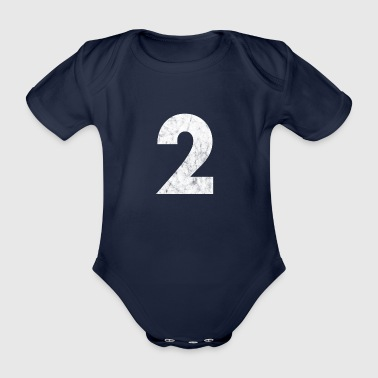 Number 2, Number 2, 2, two, Number two, Two - Organic Short-sleeved Baby Bodysuit
