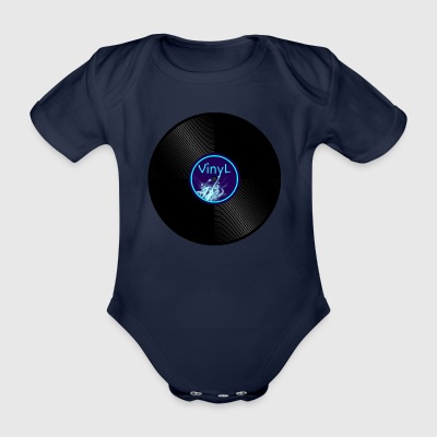 vinyl record - Organic Short-sleeved Baby Bodysuit