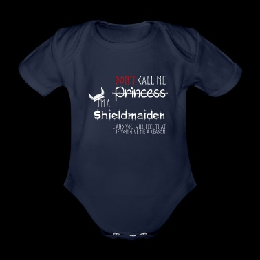 Shieldmaiden, Vikings - Organic Short-sleeved Baby Bodysuit