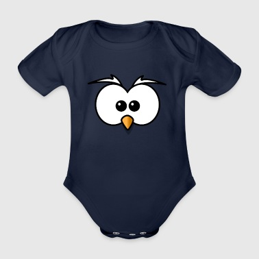 owl - Organic Short-sleeved Baby Bodysuit
