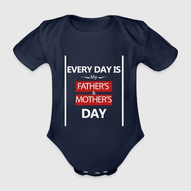 fathersday-vatertag-muttertag-mothersday - Baby Bio-Kurzarm-Body