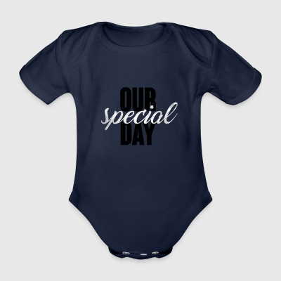 Hochzeit / Heirat: Our special day - Baby Bio-Kurzarm-Body