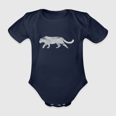 Snow Leopard - Organic Short-sleeved Baby Bodysuit