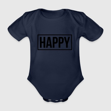 happy - Organic Short-sleeved Baby Bodysuit