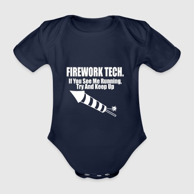 fireqwork tech - Organic Short-sleeved Baby Bodysuit