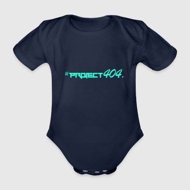 project404 final teal - Organic Short-sleeved Baby Bodysuit