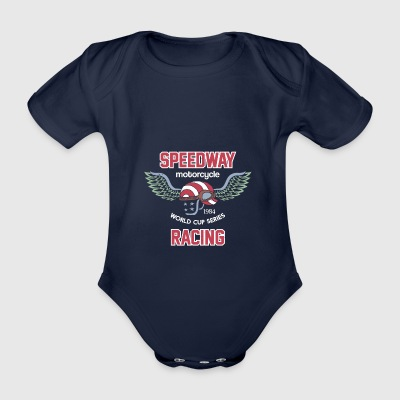 Speedway Racing - Organic Short-sleeved Baby Bodysuit