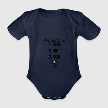 Why can not I be - Organic Short-sleeved Baby Bodysuit