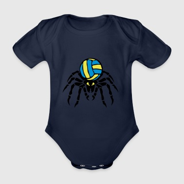 volleyball waterpolo spider spider spinnaker - Organic Short-sleeved Baby Bodysuit