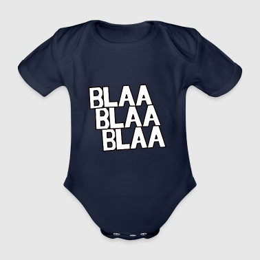 White Blaa - Organic Short-sleeved Baby Bodysuit