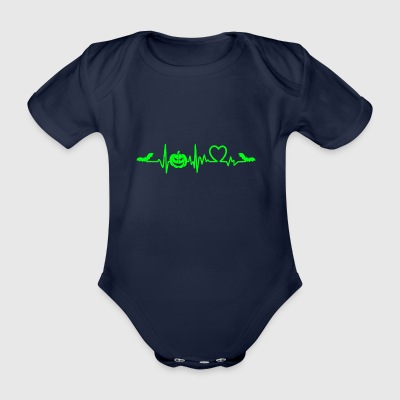 Halloween heart beat sweet or sour - Organic Short-sleeved Baby Bodysuit