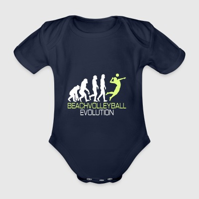Evolution - Beach-volley cadeau T-shirt - Body bébé bio manches courtes