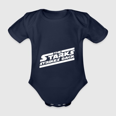 starks white - Organic Short-sleeved Baby Bodysuit