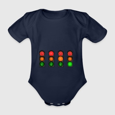 traffic light - Organic Short-sleeved Baby Bodysuit