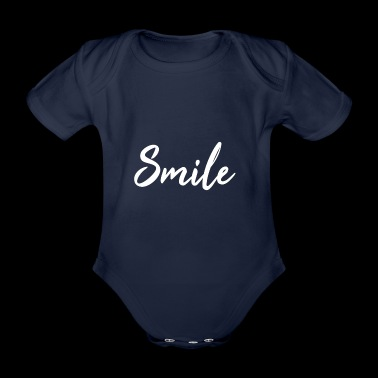 Smile! - Organic Short-sleeved Baby Bodysuit