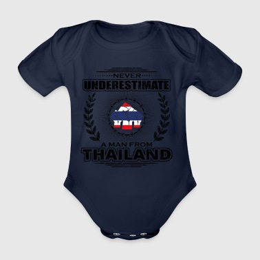 Never Underestimate Man Roots THAILAND png - Organic Short-sleeved Baby Bodysuit