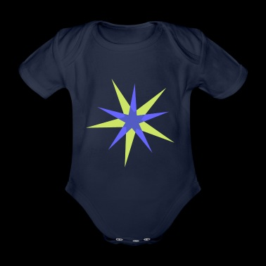 star - Organic Short-sleeved Baby Bodysuit