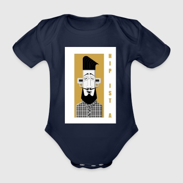 Hipster No2 - Organic Short-sleeved Baby Bodysuit