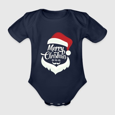 Ho! Ho! Ho! God jul! - Økologisk kortermet baby-body