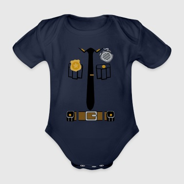 Polizei-T-Shirt - Baby Bio-Kurzarm-Body