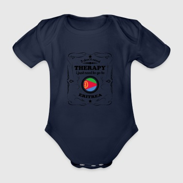 DON T NEED THERAPY GO ERITREA - Organic Short-sleeved Baby Bodysuit