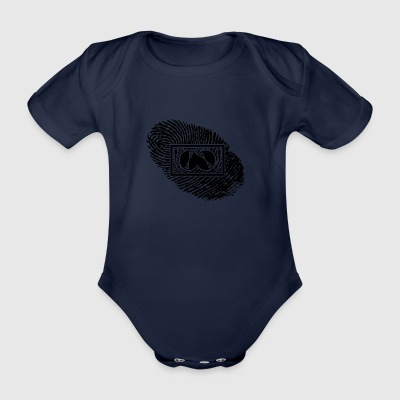 fingerprint dns dna gift TECHNO DJ ELECTRO - Organic Short-sleeved Baby Bodysuit