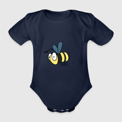 honeybee - Organic Short-sleeved Baby Bodysuit