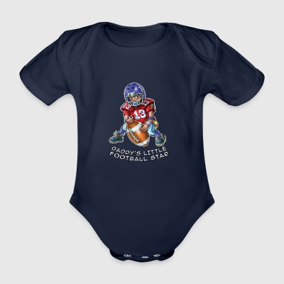 Daddy's little football star - baby footballer - Organic Short-sleeved Baby Bodysuit