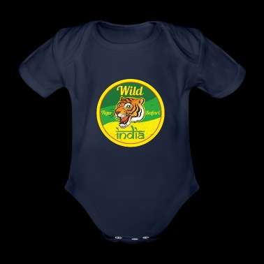 Wild India Tiger Safari / Cooles Tiger Design - Baby Bio-Kurzarm-Body