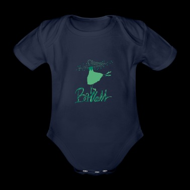Ballerina is dancing on the toe, gift idea - Organic Short-sleeved Baby Bodysuit