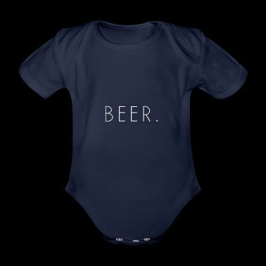 BEER. (White) - Organic Short-sleeved Baby Bodysuit