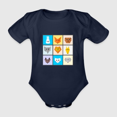 animals - Organic Short-sleeved Baby Bodysuit