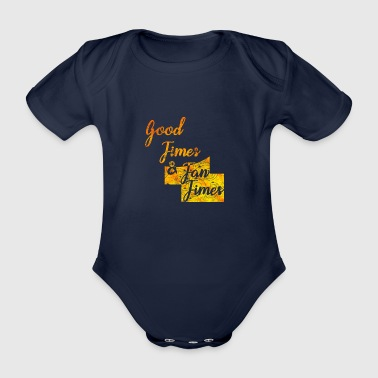 Good Times Sea Sun Summer Beach Malle Party - Organic Short-sleeved Baby Bodysuit