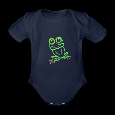 frog - Organic Short-sleeved Baby Bodysuit