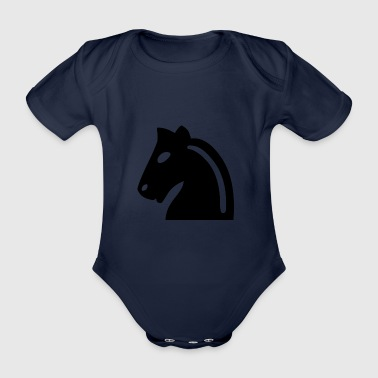 Chess horse - Organic Short-sleeved Baby Bodysuit