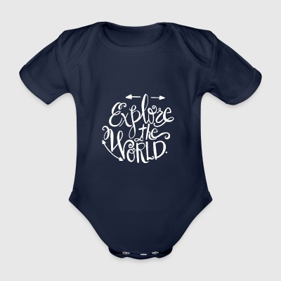 CSTEP Zen Moutain Quotes 02w - Baby Bio-Kurzarm-Body