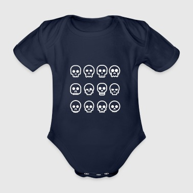 skulls - Organic Short-sleeved Baby Bodysuit