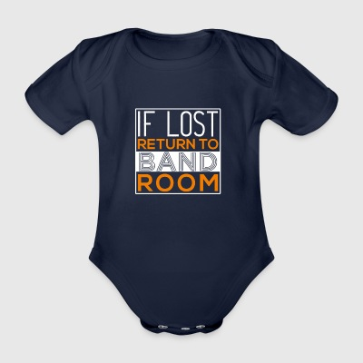 If Lost Return To Bandroom - Organic Short-sleeved Baby Bodysuit