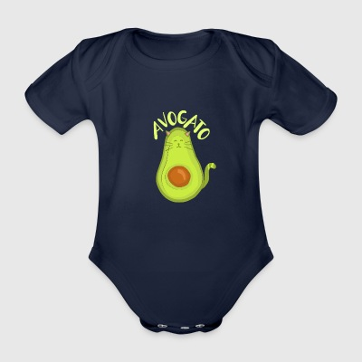 Avocado/Cats – Avo Gato - Baby Bio-Kurzarm-Body