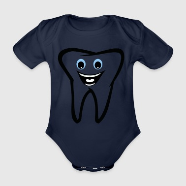 Tooth - Organic Short-sleeved Baby Bodysuit