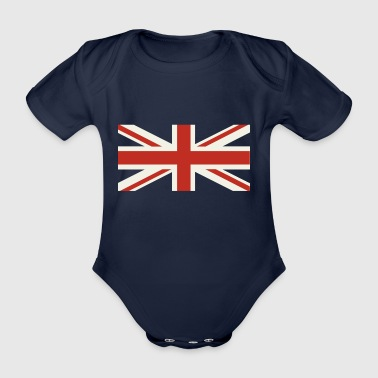 Union Jack Pale - Organic Short-sleeved Baby Bodysuit