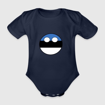 Countryball Country Home Estonia - Organic Short-sleeved Baby Bodysuit