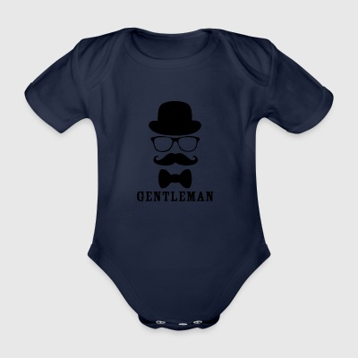 gentleman blak - Organic Short-sleeved Baby Bodysuit