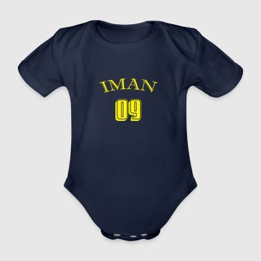 IMAN 09 - LIGHT - Organic Short-sleeved Baby Bodysuit
