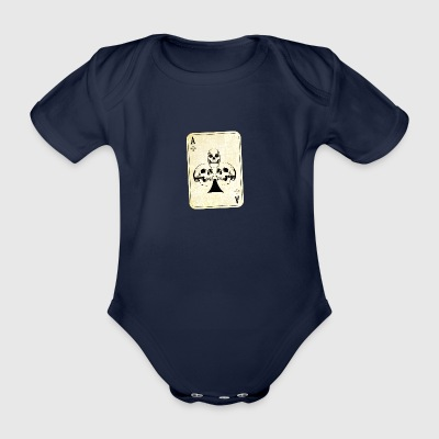 Ace of skulls - Organic Short-sleeved Baby Bodysuit