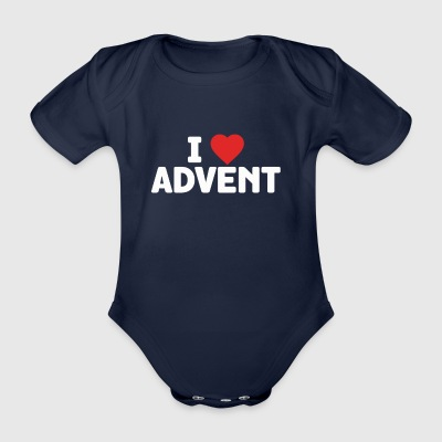 I Love Advent Christmas Season Countdown Calendar - Organic Short-sleeved Baby Bodysuit