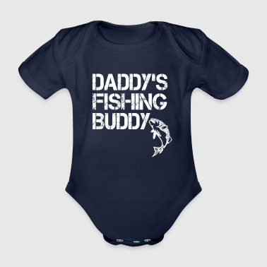 Daddy's Fishing Buddy - Daddy's Angel Friend - Gift - Organic Short-sleeved Baby Bodysuit