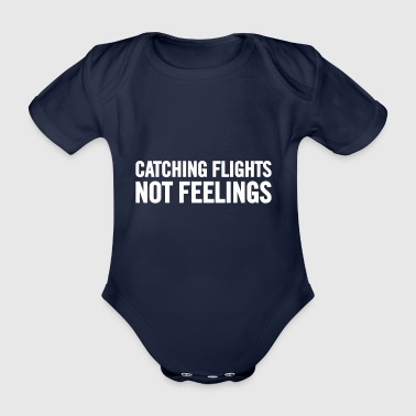 Catching Flights White - Organic Short-sleeved Baby Bodysuit