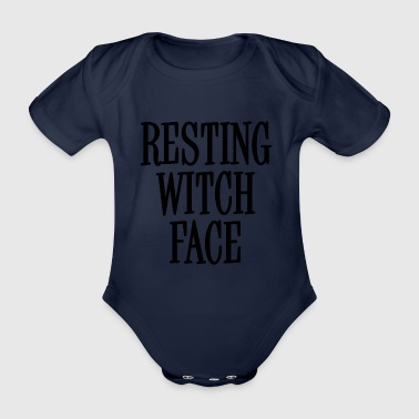 Resting Black Witch Gesicht - Baby Bio-Kurzarm-Body